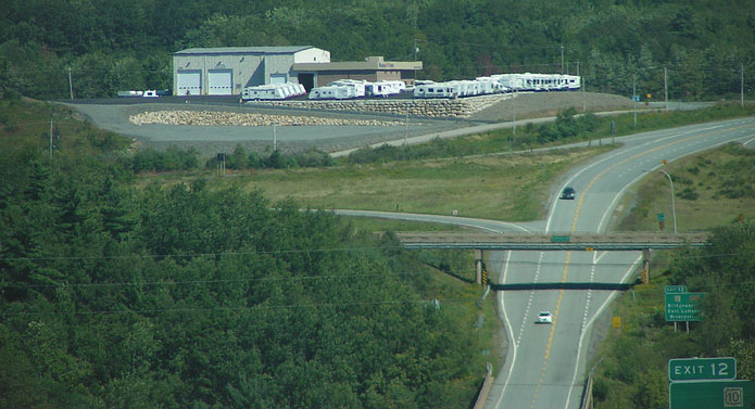 Image of Bluenose RV facility and RVs in stock