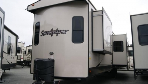 New 2018 Forest River Sandpiper Destination 404QBWD Park Trailer