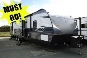New 2019 CrossRoads RV Zinger ZR338RR Toy Hauler