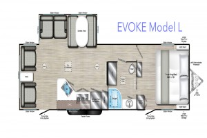 New 2020 Travel Lite Evoke L Travel Trailer